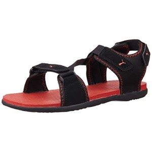 12403e9e660c Puma Unisex Royal DP Black and High Risk Red Athletic and Outdoor Sandals -  5 UK