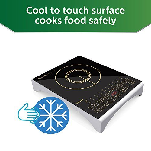 Philips Viva Collection HD4938/01 2100-Watt Induction Cooktop with Sensor Touch (Black)