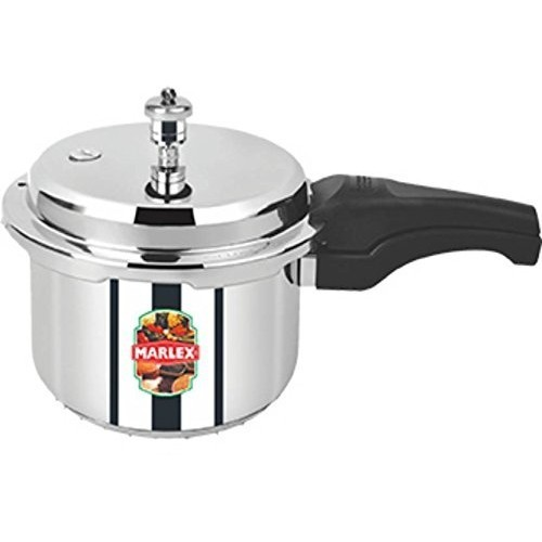 Marlex Romantica Outer Lid Stainless Steel Pressure Cooker, 2 litres, Silver