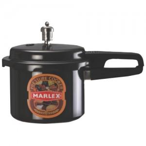 Marlex Aluminum Hard Anodized Outer Lid Pressure Cooker Maestro, 3L(Silver, Maestro)