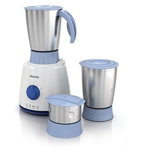 Philips Daily Collection HL7610/04 500-Watt 3 Jar Mixer Grinder (Blue)