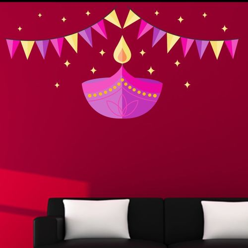 Happy walls Abstract Wallpaper(40 cm X 80 cm)