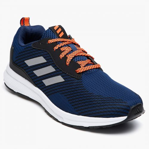 adidas textured lace-up running shoes