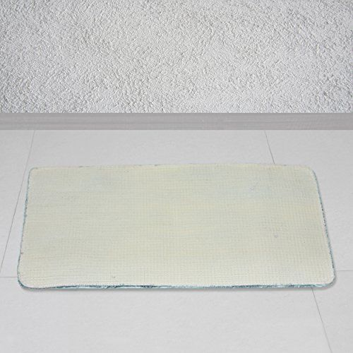 Story@Home Story @ Home Grey Polyester Prima 1 Pc Door or Bath Mat