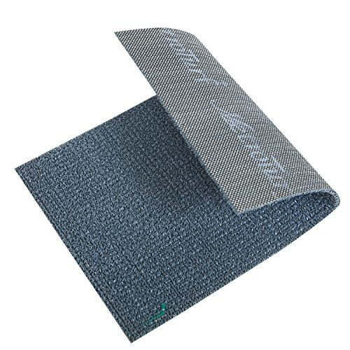 Kuber Industries Dirt Rubb Off Clean Footwear PVC Thick Doormat for Offices,Hotel,Restaurtaurant,Home,Shop Color- Grey (Extra Large) Size : 90 cm x 60 cm x 1.5 cm