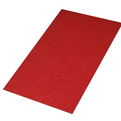 Kuber Industries Large Size Dirt Rubb Off Clean Footwear PVC Thick Doormat for Offices,Hotel,Restaurtaurant, Home,Shop Color- Red Size : 100 cm x 60 cm x 1.5 cm