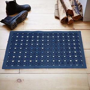 Kuber Industries PVC Door Mat for Offices,Hotel,Restaurtaurant, Home,Shop Set of 1 Pc (58 * 38 cm) Blue