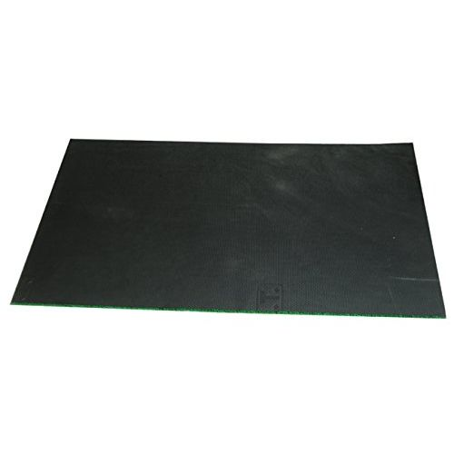Kuber Industries Large Size Dirt Rubb Off Clean Footwear PVC Thick Doormat for Offices,Hotel,Restaurtaurant, Home,Shop Color- Green Size : 100 cm x 60 cm x 1.5