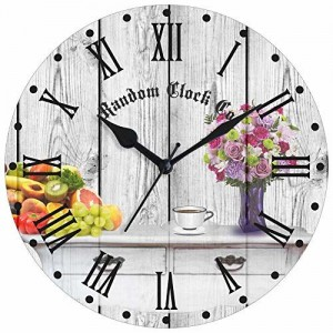 Random Rustic Pleasure Round Wood Wall Clock (33.02 cm x 33.02 cm x 5.08 cm)