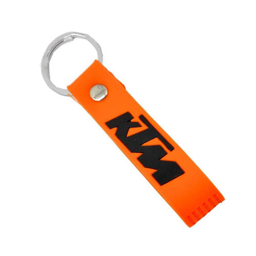Spidy Moto KTM Orange Key Chain, 2 Arm Sleeves, 1 Pair Pro-Biker Hand Gloves, 1 Pair Knee Guard Combo for Biker/Rider