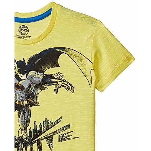 Batman Boys' Plain Regular Fit T-Shirt (DC0GBT292_Yellow_2-3 Years)