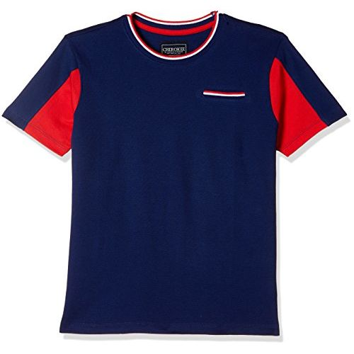 Cherokee by Unlimited Boys' Checkered Regular Fit T-Shirt (400017141442_Navy_08Y)