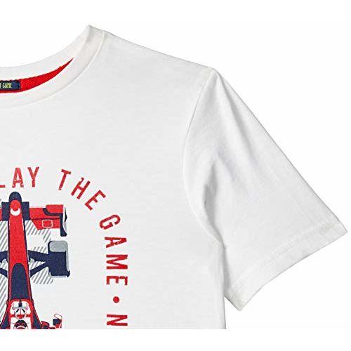 Indian Terrain Boys' Plain Regular Fit T-Shirt (ITBTS00171_Ecru_Large)