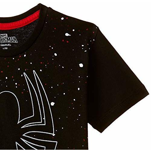 Spiderman Boys' Plain Regular Fit T-Shirt (SM0GBT1532_Black_3 - 4 years)
