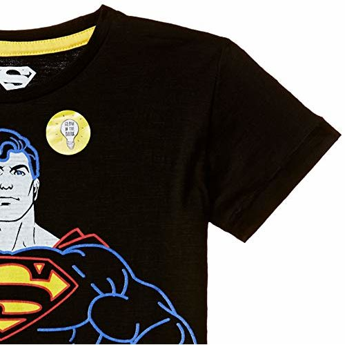 Kidsville Boys' Plain Regular Fit T-Shirt (SP1GBT234_Black_5/6)