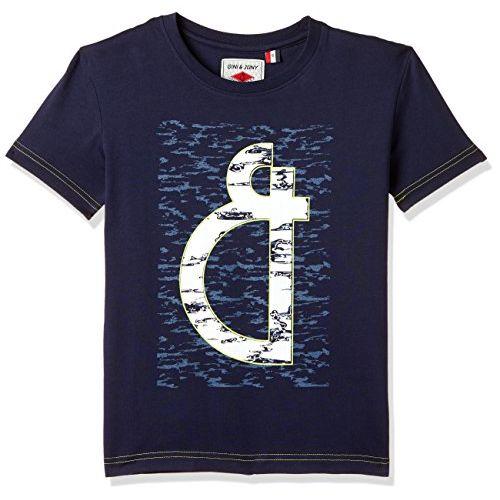 Gini & Jony Boy's Plain Regular Fit T-Shirt (121246517898 C656_Navy_2)