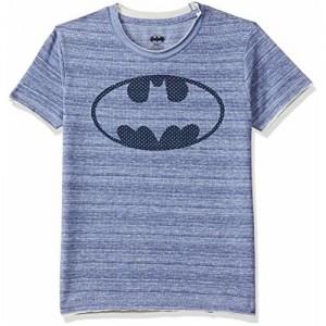 1803133dcb Batman Boys' Plain Regular Fit T-Shirt (8903346785933_Blue Spaced ...