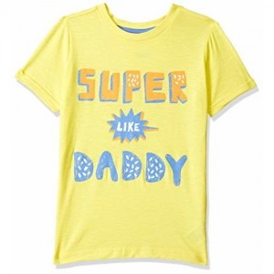 Mothercare Boys' Plain Regular Fit T-Shirt (PG090-1_Yellow_3-4 Years)