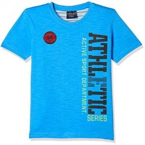 Cherokee by Unlimited Boys' Regular Fit T-Shirt (272243428 AQUA 08Y HS)