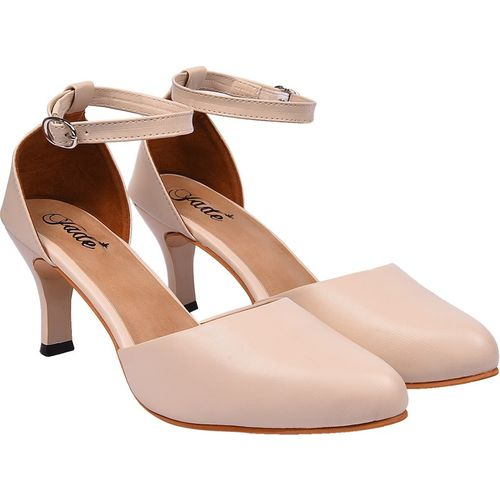 Jade Brand Cream Synthetic Party Wear Sandals