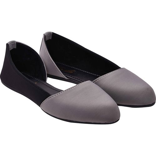 Jade Gray Synthetic Slip-On Casual Bellies