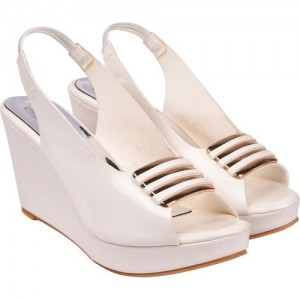Jade Women White Wedges