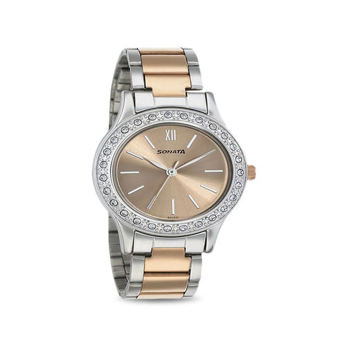Sonata 8123KM01 Blush Analog Watch for Women