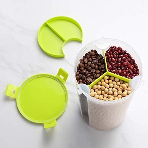VASTUGOLD Clear Plastic Cereal Dispenser Storage Jar Box Container
