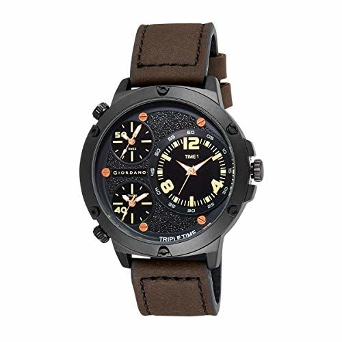 Giordano Analog Black Dial Men's Watch-C1113-01