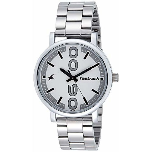 Fastrack Bold Analog White Dial Men's Watch-38052SM08
