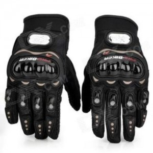 Pro biker Full Finger Gloves In Black Size XL