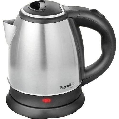 Pigeon Hot Electric Kettle(1.5, Black, Silver)
