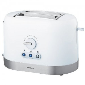 Havells Ovale W 870-Watt Stainless Steel Pop-up Toaster (White)