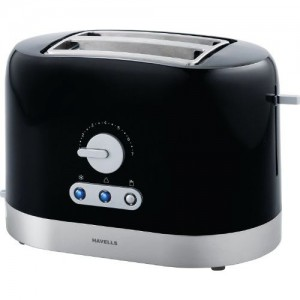 Havells Ovale B 870-Watt Stainless Steel Pop-up Toaster (Black)