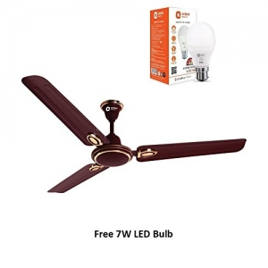 Orient Electric Pacific Air Decor 1200mm Ceiling Fan (Brown) with Free 7w Led Bulb