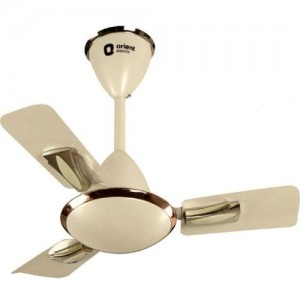 Orient GRATIA 600MM METALLIC IVORY 3 Blade Ceiling Fan(ORANGE, Pack of 1)
