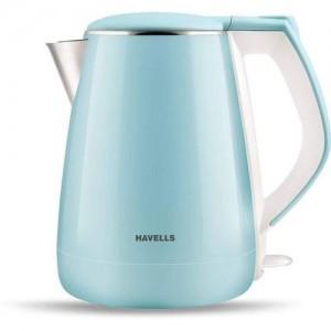Havells AQUA DX Electric Kettle(1.2 L, Blue)
