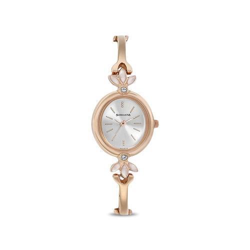 Sonata 8091WM01 Blush Analog Watch for Women