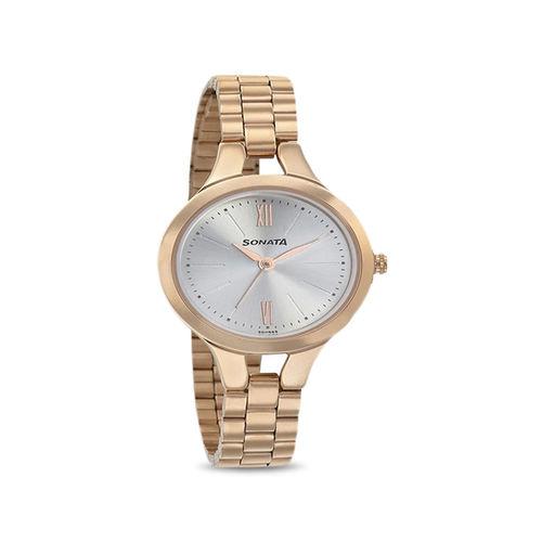 Sonata 8151WM01 Blush Analog Watch for Women