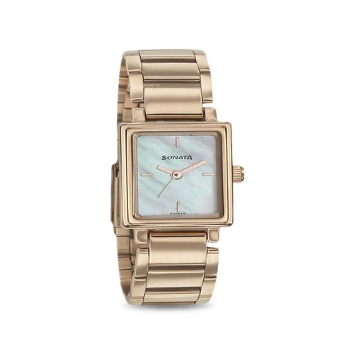 Sonata 8080WM01 Blush Analog Watch for Women