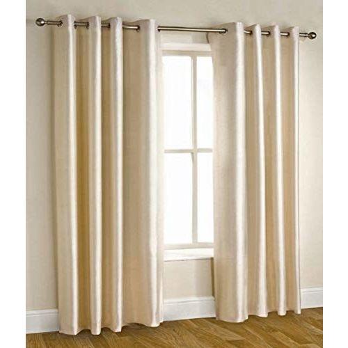 Homefab India Royal Polyester Door Curtain - 7ft, Cream
