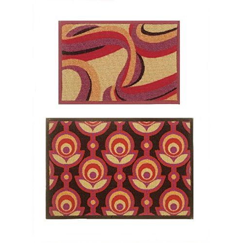 Bianca Splender Abstract 2 Piece Nylon Door Mat Set - 12