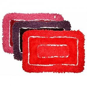 LOOMANTHA miles to go.... LOOMANTHA miles to go. Multicolor Cotton 3 Pc Door Mat