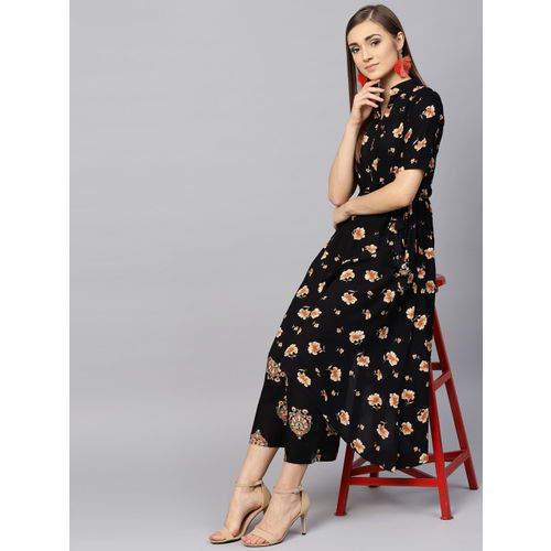 7a05fc0fab1 Buy Libas Women Black   Beige Printed Kurta with Palazzos online ...