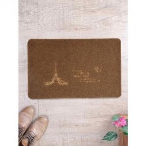 Cortina Brown Patterned Rectangular Doormat