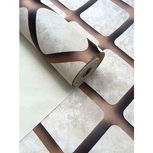 EUROTEX Vinyl Textured Patterned Rolls 3D Wallpaper, 57 sq.ft, White