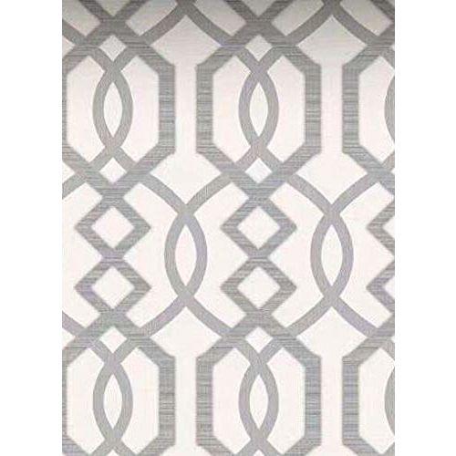 Eurotex Textured Vinyl PVC Coated 3D White Wallpaper for Interior Decoration (57sqft/Per roll)7264