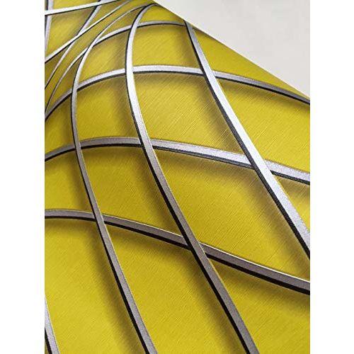 Eurotex Textured Vinyl PVC Coated 3D Design Wallpaper for Wall Decoration (57sqft/Per roll)33064