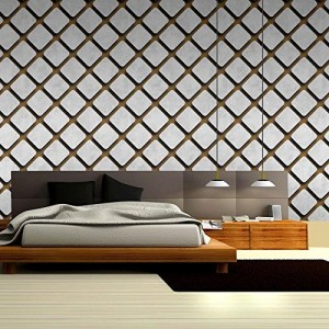Eurotex Wallpaper for Wall (White & Grey)