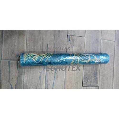 Eurotex 57 sqft Textured Vinyl PVC Coated 3D Blue morpankh Design Wallpaper Rolls for Wall/Home decoration-690504